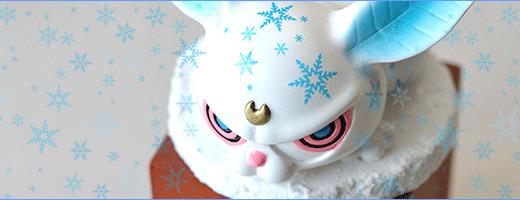 雪デカール使用例「ゆきうさぎ」