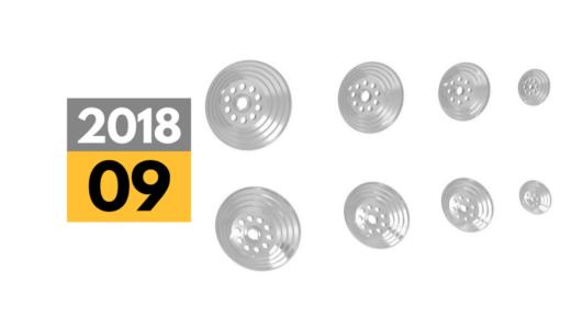 2018年9月中旬発売予定「STDスラスターフラット小径4サイズ」